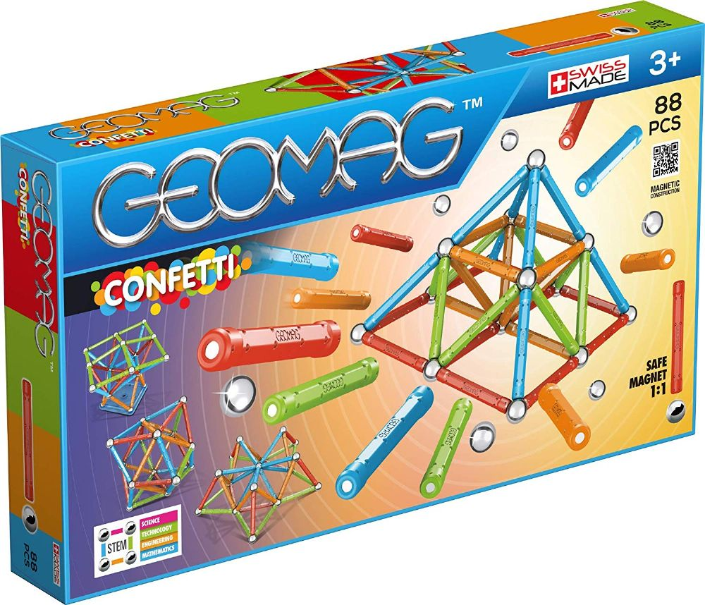 Kids Geomag 353 Confetti Magnetic Construction Set 88 Pcs Playset Gift